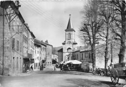 42-CHALMAZEL- L'EGLISE ET LA PLACE - France