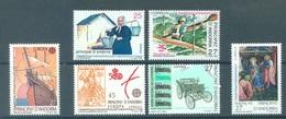 ANDORRA  - 1992 - MNH/**  - YEAR COMPLETE - Yv 215-220 -  Lot 19165 - Andorre Espagnol