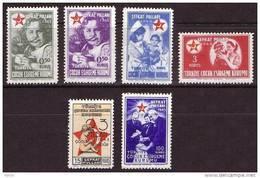 1943 TURKEY 23RD. APRIL CHILDREN FESTIVAL CHARITY STAMPS MINT WITHOUT GUM - 1921-... République