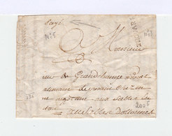 Sur Partie De Pli Pour Les Sables D'Olonnes Inscription Manuelle Payé Et Marque Linéaire Thouars. (1189x) - 1801-1848: Précurseurs XIX