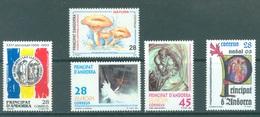 ANDORRA  - 1993 - MNH/**  - YEAR COMPLETE - Yv 221-225 -  Lot 19166 - Andorre Espagnol