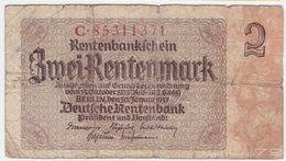 Germany P 174 B - 2 Rentenmark 30.1.1937 - Fine - [ 4] 1933-1945 : Terzo  Reich