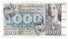 21566 - 1000 CHF 5e Série 24.01.1972 N°6BO3036 Très Bon état Signature HA - Switzerland