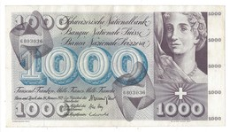 21566 - 1000 CHF 5e Série 24.01.1972 N°6BO3036 Très Bon état Signature HA - Schweiz
