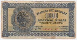 Greece P 117 B - 1.000 1000 Drachmai 1.10.1941 - Fine - Grecia