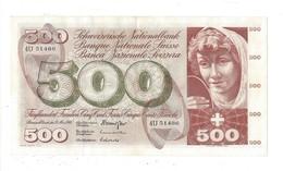 21565 - 500 CHF 5e Série 15.05.1968 N°4U51486 Très Bon état Signature LE - Schweiz