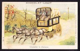 CHROMO Chocolat LOUIT Frères  Carrosse Chasseur - Louit