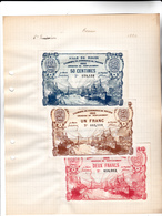 75 - ROUEN - Lot De 3 Billets VILLE DE ROUEN CHAMB DE COMME DE ROUEN 1920 EMISSION DE REMPLACEMENT 50CTS 1FR Et 2FR - Chambre De Commerce