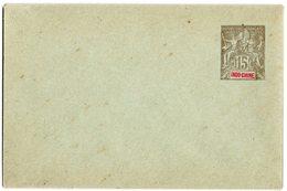 INDOCHINE Entier ENV 15 C. Gris - ACEP EN11 Cote 7 € - Indochina (1889-1945)