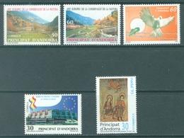 ANDORRA  - 1995 - MNH/**  - YEAR COMPLETE - Yv 231-235 -  Lot 19168 - Andorre Espagnol