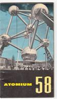 """Brussel Expo 58 Wereldtentoonstelling """"Atomium 58"""" Brochure - Histoire"""