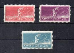 Uruguay - 1924 - Vittoria Alle Olimpiadi Di Parigi - 3 Valori - Nuovi - Leggera Traccia Di Linguella -  (FDC14437) - Uruguay
