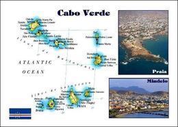 Cape Verde Map New Postcard Kap Verde Landkarte AK - Cap Verde