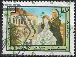LEBANON 1978 Lebanese Handicrafts Overprinted With Pattern - 85p - Lace-making FU - Libanon