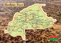 Burkina Faso Map New Postcard Landkarte AK - Burkina Faso