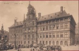 Antwerpen Anvers L' Hotel De Ville Stadhuis La Grand Place Grote Markt Geanimeerd Marche (In Zeer Goede Staat) - Antwerpen