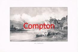 309 E.T.Compton Kufstein Unterinntal Artikel Mit 6 Bildern 1896 !! - Magazines & Newspapers