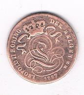 1 CENTIM 1887 VL  BELGIE /2045// - 1865-1909: Leopold II