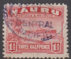 Nauru SG 28 1924 Ships Three Half Pence, Used - Nauru