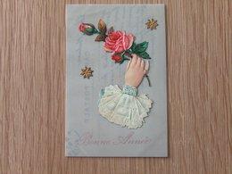 Celluloide Decoupi Et Dorure - Cartes Postales