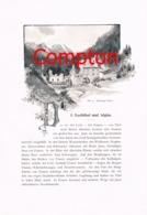 312 E.T.Compton Lechtal Allgäu Füssen Artikel Mit 5 Bildern 1896 !! - Andere