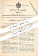 Original Patent - Harry Davidson , Alfred Ch. Clapp , New York , USA , 1894 , Befestigung Für Haken & Ösen An Bekleidung - Historische Dokumente