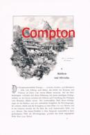 315 E.T.Compton Silvreetta Paznaun Lünersee Artikel Mit 4 Bildern 1896 !! - Revues & Journaux