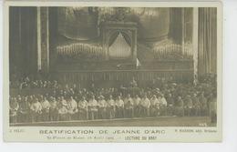 JEANNE D'ARC - ITALIE - ROME - ROMA - 19/04/1909 - BEATIFICATION DE JEANNE D'ARC - Lecture Du Bref - Femmes Célèbres