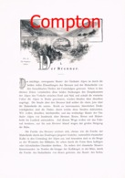 316 E.T.Compton Paul Hey Brenner Sterzing Artikel Mit 3 Bildern 1896 !! - Revues & Journaux
