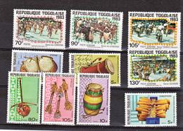 Togo  886/888, 1094, PA 302/304, Pa 491/493 Instruments Et Folklore Neuf **TB  Mnh - Togo (1960-...)