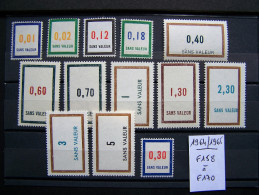 FICTIFS NEUF ** N°F158 à F170 SANS CHARNIERE (FICTIF F 158 à F 170) SERIE COMPLETE EMISSION DE 1964 à 1965 - Fictifs