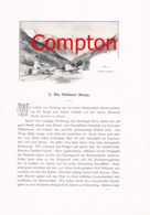 317 E.T.Compton Stubaital Ridnauntal Zuckerhütl Artikel Mit 2 Bildern 1896 !! - Revues & Journaux