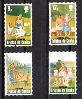 Tristan Da Cunha - 1984. Lavorazione Della Lana. Wool Processing. Complete MNH Series - Altri