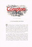 318 E.T.Compton Bozen Brixen Klausen Artikel Mit 7 Bildern 1896 !! - Revues & Journaux
