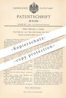 Original Patent - Emile Bénard , Paris , Frankreich , 1894 , Herstellung Von Zement | Cement | Ziegel , Ton , Beton !! - Historische Dokumente