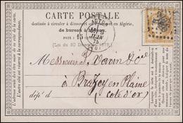 Frankreich 15 C. Ceres EF Postkarte AUTUN 9.6.75 Nach Brazey-en-Plaine - Frankreich