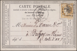 Frankreich 15 C. Ceres EF Postkarte AUTUN 9.6.75 Nach Brazey-en-Plaine - France