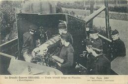 WW1 - TRAIN BLINDE BELGE EN FLANDRE #88106 - Guerre 1914-18