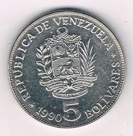 5 BOLIVAR 1990 VENEZUELA /2022/ - Venezuela