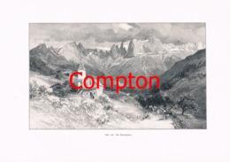 329 E.T.Compton San Martino Gröden Palagruppe Artikel Mit 6 Bildern 1896 !! - Revues & Journaux