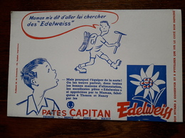 L18/92 Buvard. Pates Capitan. Edelweiss - Alimentare