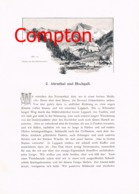 331 E.T.Compton Ahrntal Taufers Hochgall Artikel Mit 3 Bildern 1896 !! - Revues & Journaux