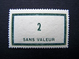 FICTIFS NEUF ** N°F 42 SANS CHARNIERE (FICTIF F42) - Phantomausgaben