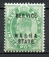NABHA - (Protectorat Britannique) - 1904 - Service - N° 17 Et 18 - (Lot 2 Valeurs Différentes) - (Effigie D'Edouard VII) - Nabha