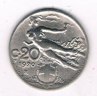 20 CENTESIMI  1920 R ITALIE /2030/ - 1861-1946 : Royaume