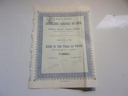 DISTILLERIE AGRICOLE DU CHER (1907) - Non Classés