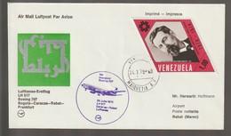 M 1037) Venezuela Mi 2008; 24.7.1975 Erstflug LH 517 Caracas-Rabat, Boeing 707 - Flugzeuge