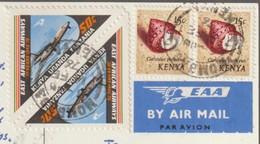 M 1036) Kenia Kenya 1976: East African Airways Focker F-27, Meer Schnecke (AK Kilimandscharo) - Flugzeuge