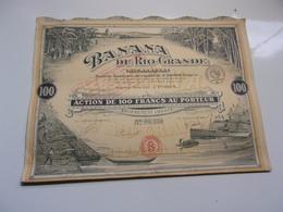 BANANA DU RIO GRANDE (nicaragua) 100 Francs - Actions & Titres