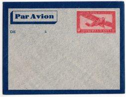 INDOCHINE Entier Aéro. 36 C. Rouge - ACEP PA EN3 Cote 25 € - Briefe U. Dokumente